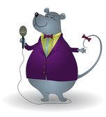 Rat singer — Stock Vector