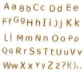Teak alphabet — Stock Photo