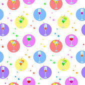 Background, glasses and bubbles — Stock Vector
