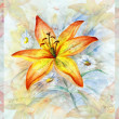 Flowers, watercolor - Stock Photo