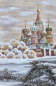 Vasily Blazhennogo temple — Stock Photo