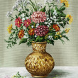 Stock Photo: Bunch of flowers in Africvase