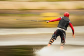 Wakeborder blurred panning — Stock Photo