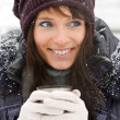 Winter girl portrait — Stock Photo
