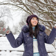 Winter girl portrait - Stock Photo