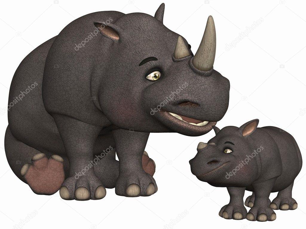 depositphotos 4187167 Toon Rhino pregnant hairy