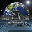 Futuristic space station — Stock Photo