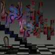 Abstract 3D Room — Stock Photo