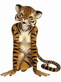 Cute Toon Figure - Tiger — Stock Photo