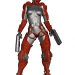 futuristiska battle kostym — Stockfoto
