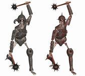 Szkielet wojownik — Zdjęcie stockowe