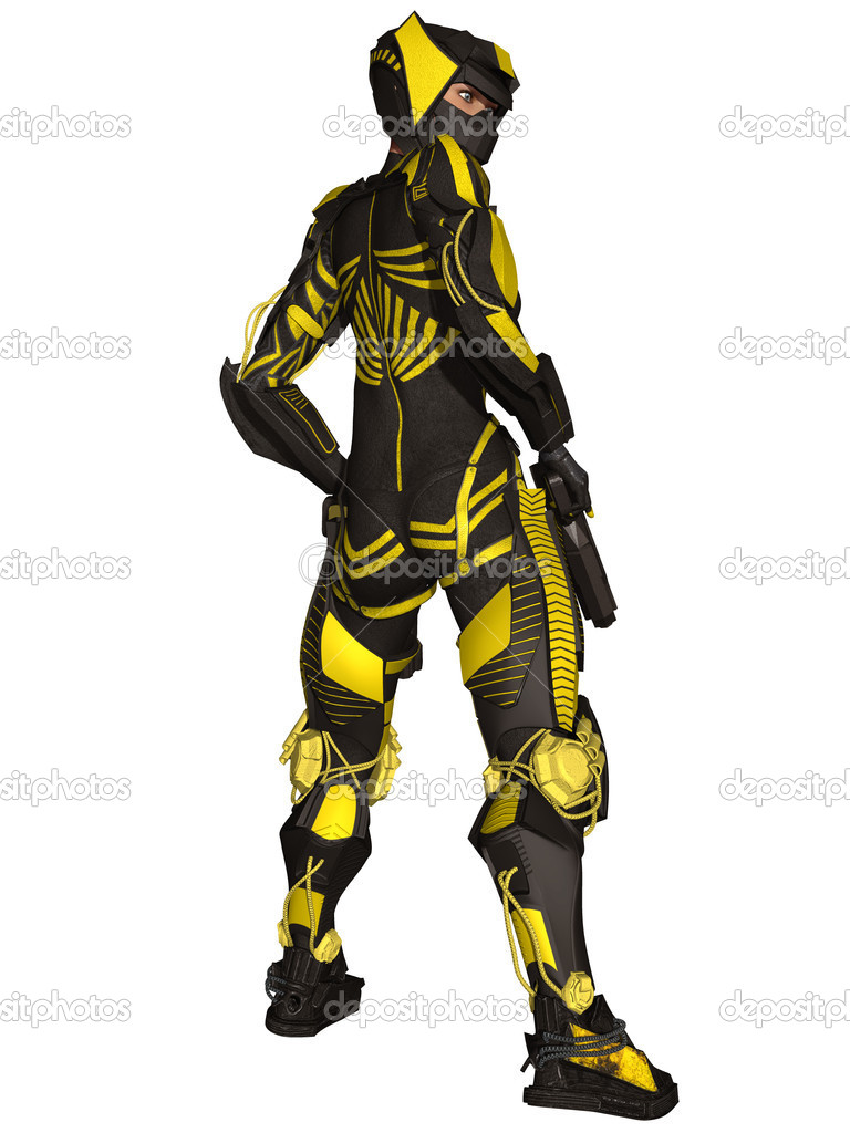a Futuristic Battle Suit