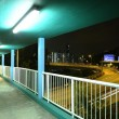 Footbridge at night — Stock Photo