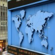 World map on street — Foto Stock