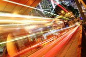 Traffic in downtown in hong kong — Stock Photo