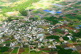 Village aerial photo — Stock fotografie