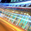 Fast moving bus at night — Stockfoto #3986369
