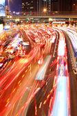 Gece hong Kong trafik sıkışıklığı — Stok fotoğraf
