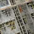 Stock Photo: Bamboo scaffolding in construction site