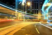 Busy city at night — Stock Photo