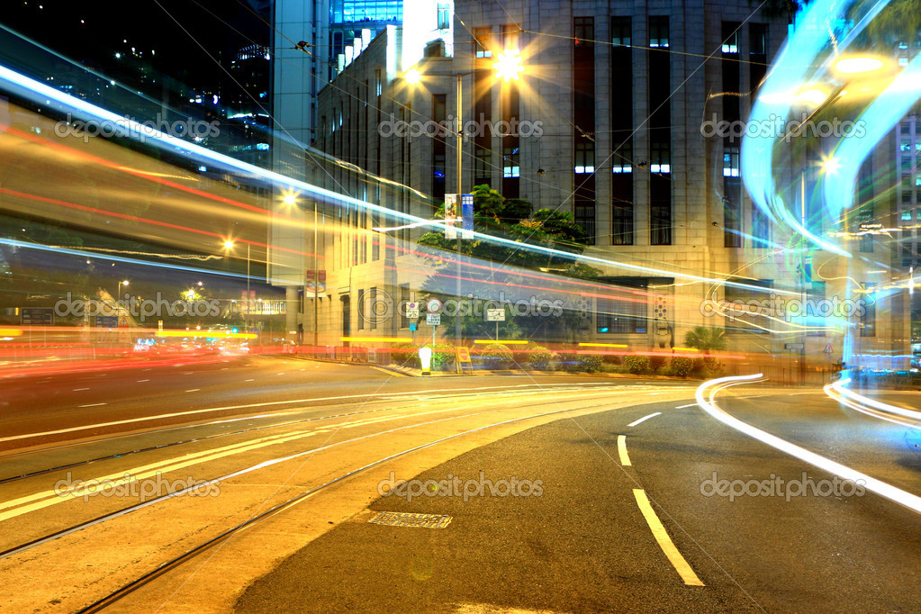 Busy city at night  Stock Photo #4051519