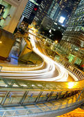 Traffic by night in Hong Kong — Stock Photo