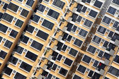 Crowded apartment block — Stock Photo