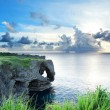 Sea at sunset in okinawa japan — Stock Photo