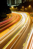 Light trails on highway — Stock Photo