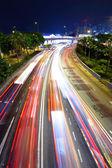 夜の交通渋滞 — ストック写真