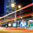 Foto Stock: Traffic in city at night