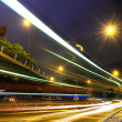 Stock Photo: Highway traffic at night