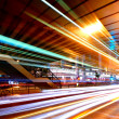 Light trails in mega city — Stock fotografie