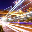 Stock Photo: Light trails in megcity
