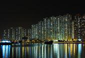 жилой дом ночью — Стоковое фото