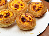 Portuguese egg tart — Stock Photo