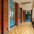 Walkway in old building - Stockfoto