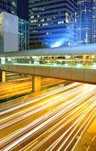 Modern city at night — 图库照片