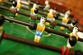 Retro wooden foosball table — Stock Photo