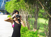 Amateur photographer — Stock Photo