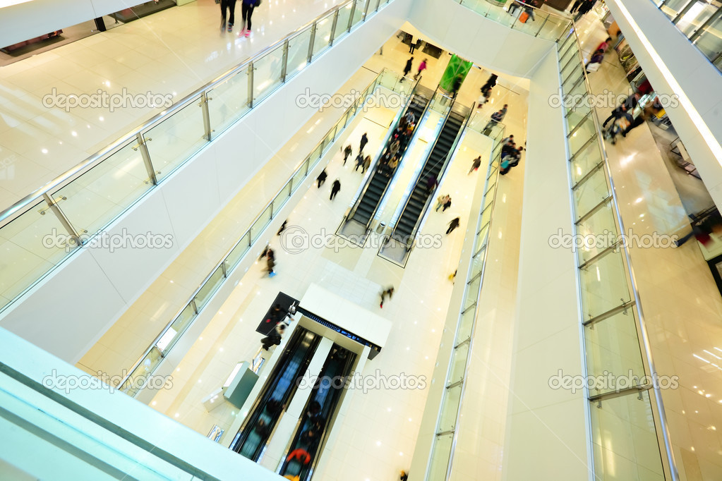 Modern shopping mall. in rush — Stock Photo #4985427