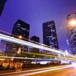 Traffic Through Downtown in HongKong — Stock Photo