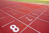 Lanes of running track — Stock Photo