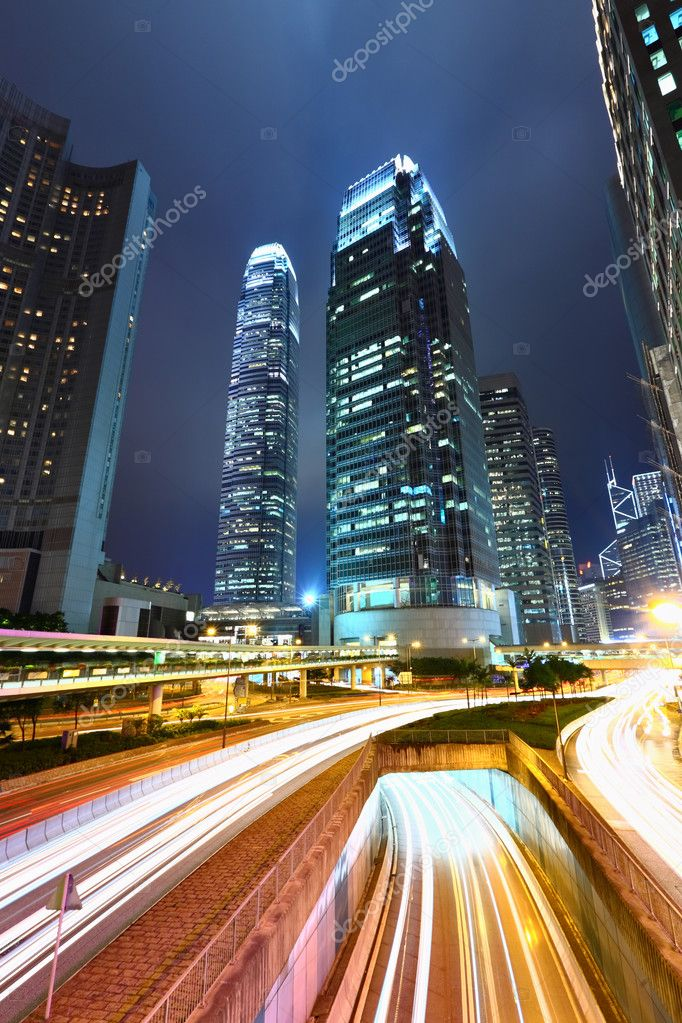 Modern city at night  Stock Photo #5227669
