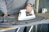 Ironing of a shirt — Stock Photo