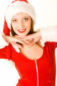 Beautiful mrs santa claus — Stock Photo