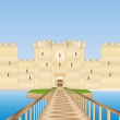 Stock Photo: Bodiam castle in SUssex