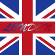 London with uk flag — Stock Photo