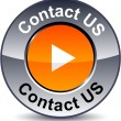 Contact us round button. - Imagens vectoriais em stock