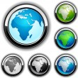 Earth buttons - Africa. — Stock Vector